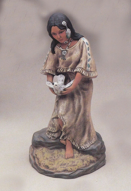 Ceramic Bisque U Paint Native American Maiden ~ Morning Dove Ready to Paint