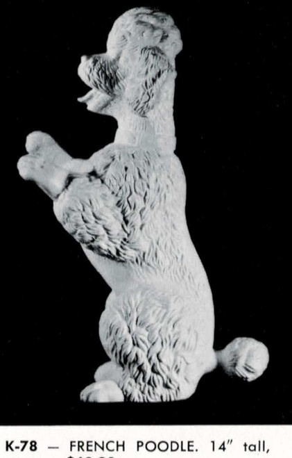Ceramic Bisque U Paint Large Sitting Up French Poodle ~ Ready to Paint Unpainted DIY