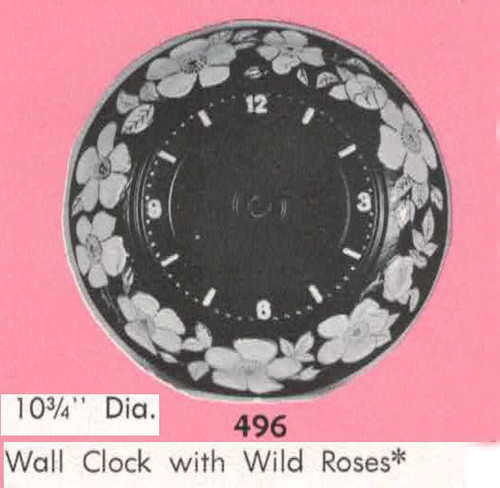 Ceramic Bisque U Paint Wall Clock with Wild Roses ~ Ready to Paint Unpainted DIY