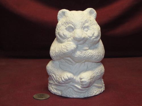 Ceramic Bisque U Paint Panda Bear unpainted ready to paint diy