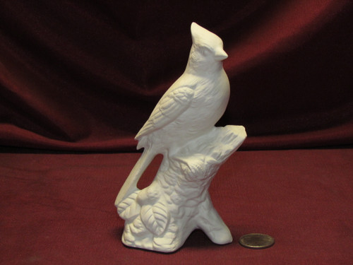 Ceramic Bisque U-Paint Cardinal Bird Unpainted Ready To Paint DIY Wildlife Bird Nature Avian
