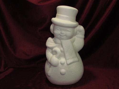 Ceramic Bisque Vintage Happy Snowman Ready to Paint U Paint Christmas