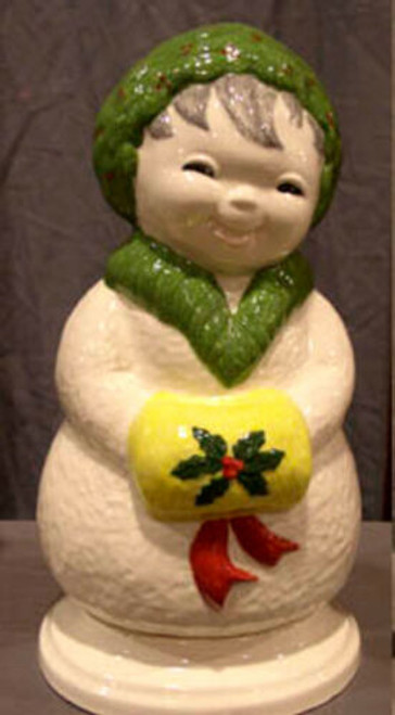 Ceramic Bisque U Paint Happy Snowlady with Base Ready to Paint Christmas
