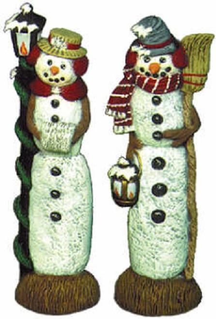Ceramic Bisque U-Paint Mr & Mrs Snowman Slender Stick Figure Unpainted Ready To Paint DIY