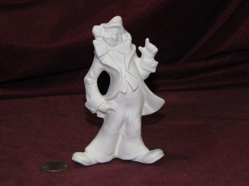Ceramic Bisque U Paint ~ Small Clown Pointing Up Ready to Paint Unpainted DIY