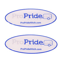 3D Domed ProPride Hitch Decal (2 Pack)
