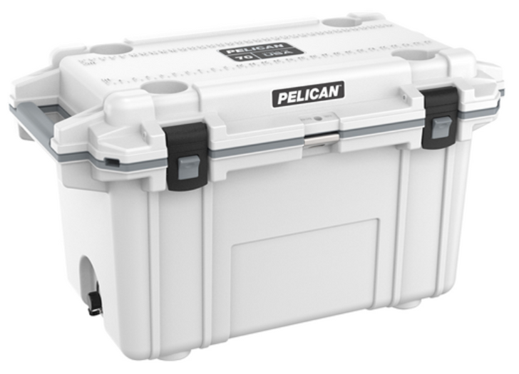 """Pelican holds themselves to higher criteria than other cooler makers. When it comes to durability, performance and ergonomic design, just """"good enough"""" doesn't cut it. As a result, Pelican Elite Coolers perform to higher standards better than any cold locker, tougher than any icebox. Pelican Elite Coolers are true next-generation innovations, created to last a lifetime. From the latches to the freezer-grade seal to the toughest handles in the business, every part is engineered to our extreme durability and performance standards. Which is why we feel confident in providing you with a Lifetime Guarantee. Not three years. Not five years. A lifetime. Something the other makers don't (or can't) do. Whether you're on the hunt of a lifetime, far out at sea with a cooler full of catch, crossing deserts on safari or simply tailgating during a big game the Pelican Elite Cooler is the one for you.  Specifications:  INTERIOR: 23.50 x 11.00 x 14.30 (59.7 x 27.9 x 36.3 cm) EXTERIOR: 36.00 x 20.30 x 21.00 (91.4 x 51.6 x 53.3 cm) VOLUME: 72.42QT (68.53 liters) INT VOLUME: 2.14 ft³ (0.061 m³) INSULATION THICKNESS: 2.00 (5.1 cm) WEIGHT: 33.29 lbs (15.1 kg)ype a description for this product here..."""