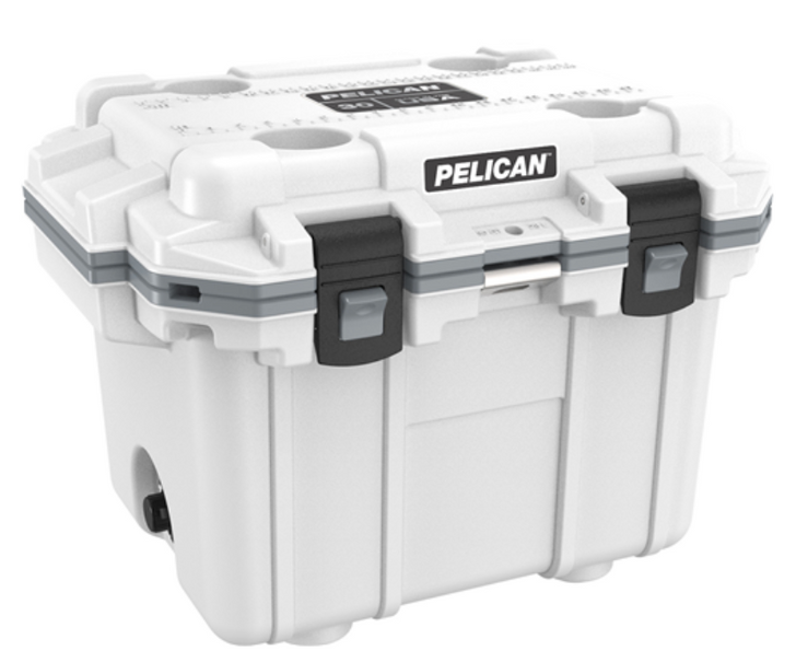 """Pelican holds themselves to higher criteria than other cooler makers. When it comes to durability, performance and ergonomic design, just """"good enough"""" doesn't cut it. As a result, Pelican Elite Coolers perform to higher standards better than any cold locker, tougher than any icebox. Pelican Elite Coolers are true next-generation innovations, created to last a lifetime. From the latches to the freezer-grade seal to the toughest handles in the business, every part is engineered to our extreme durability and performance standards. Which is why we feel confident in providing you with a Lifetime Guarantee. Not three years. Not five years. A lifetime. Something the other makers don't (or can't) do. Whether you're on the hunt of a lifetime, far out at sea with a cooler full of catch, crossing deserts on safari or simply tailgating during a big game the Pelican Elite Cooler is the one for you.  Specifications:  INTERIOR: 14.60 x 10.20 x 11.00 (37.1 x 25.9 x 27.9 cm) EXTERIOR: 25.30 x 19.00 x 18.50 (64.3 x 48.3 x 47 cm) VOLUME: 32.95QT (31.18 liters) INT VOLUME: 0.95 ft³ (0.027 m³) INSULATION THICKNESS: 2.10 (5.3 cm) WEIGHT: 21.67 lbs (9.8 kg)"""