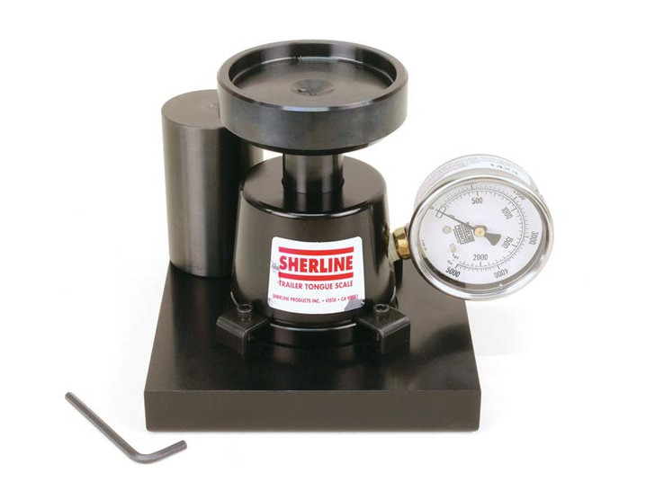 Sherline LM5 Hitch Pin Weight Scale Front View