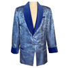 Men's Baby Blue Paisley Smoking Jacket