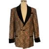 Men's Red/Gold Paisley Smoking Jacket