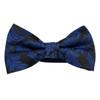 Leaf Print Bow Tie - Blue