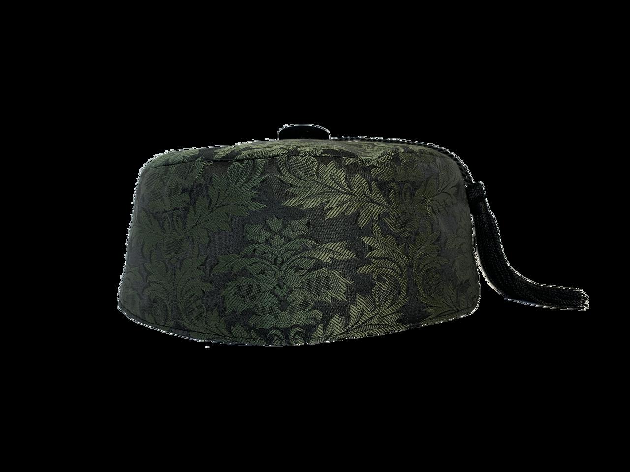 Black Velvet Smoking Cap with Tassel