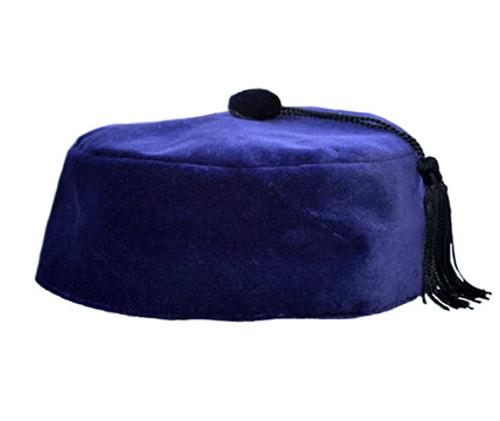 277d4424dc5 Purple Velvet Smoking Cap with Tassel