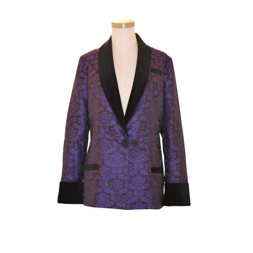 Women's Purple Brocade with Black Lining