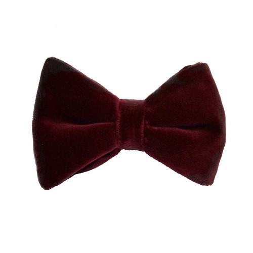 Velvet Bow Tie - Wine