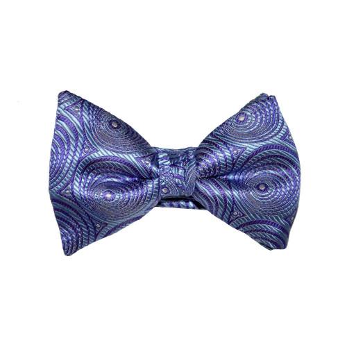 Circular Print Bow Tie - Lilac