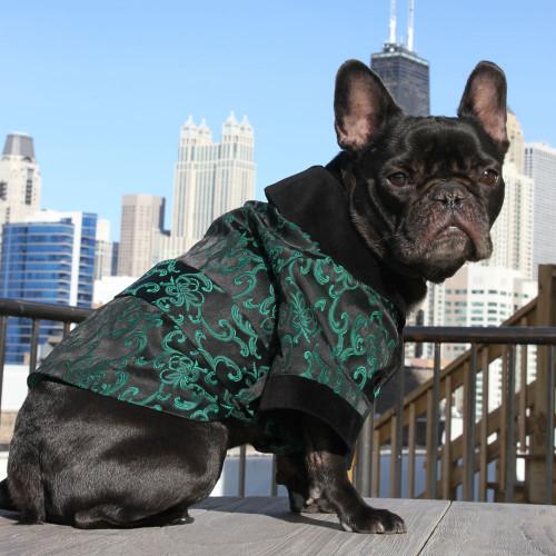 Brocade Smoking Jacket for Dogs