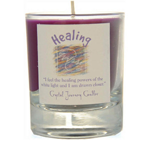 Healing Glass Filled Votive Candle