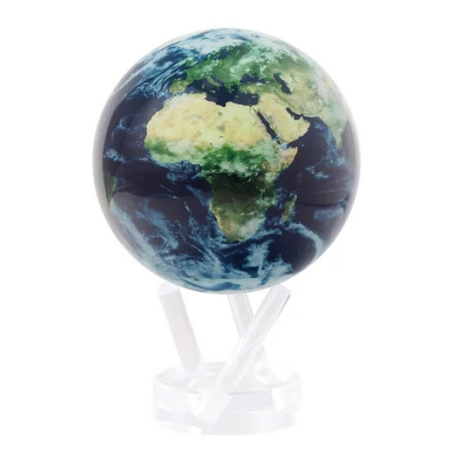 """Earth with Clouds Mova Globe, 4.5"""" with acrylic base"""