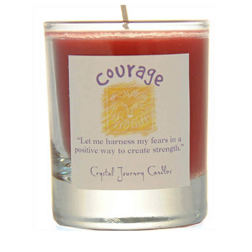 Courage Glass Filled Votive Candle
