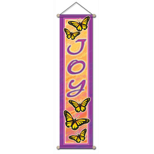 Small Affirmation Banner, Joy Butterfly