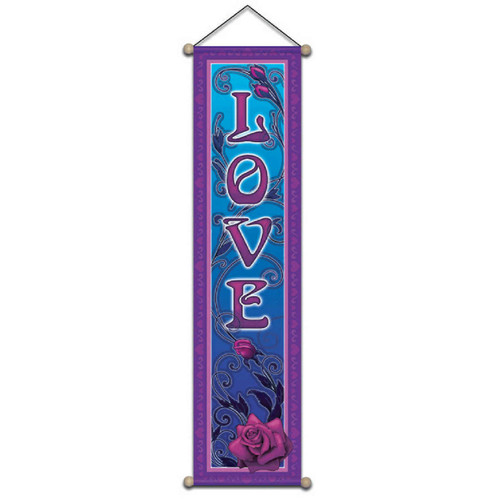 Small Affirmation Banner, Love Rose