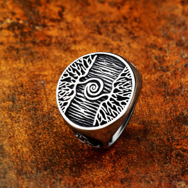 Celtic Life Tree Stainless Steel Ring