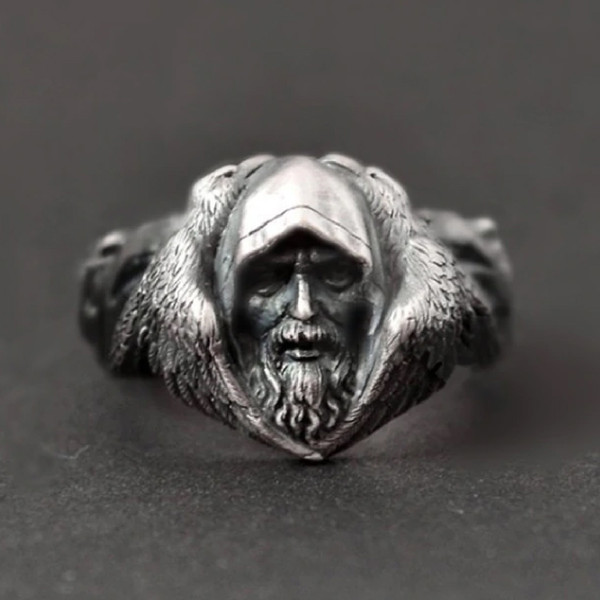 Odin Raven Stainless Steel Ring