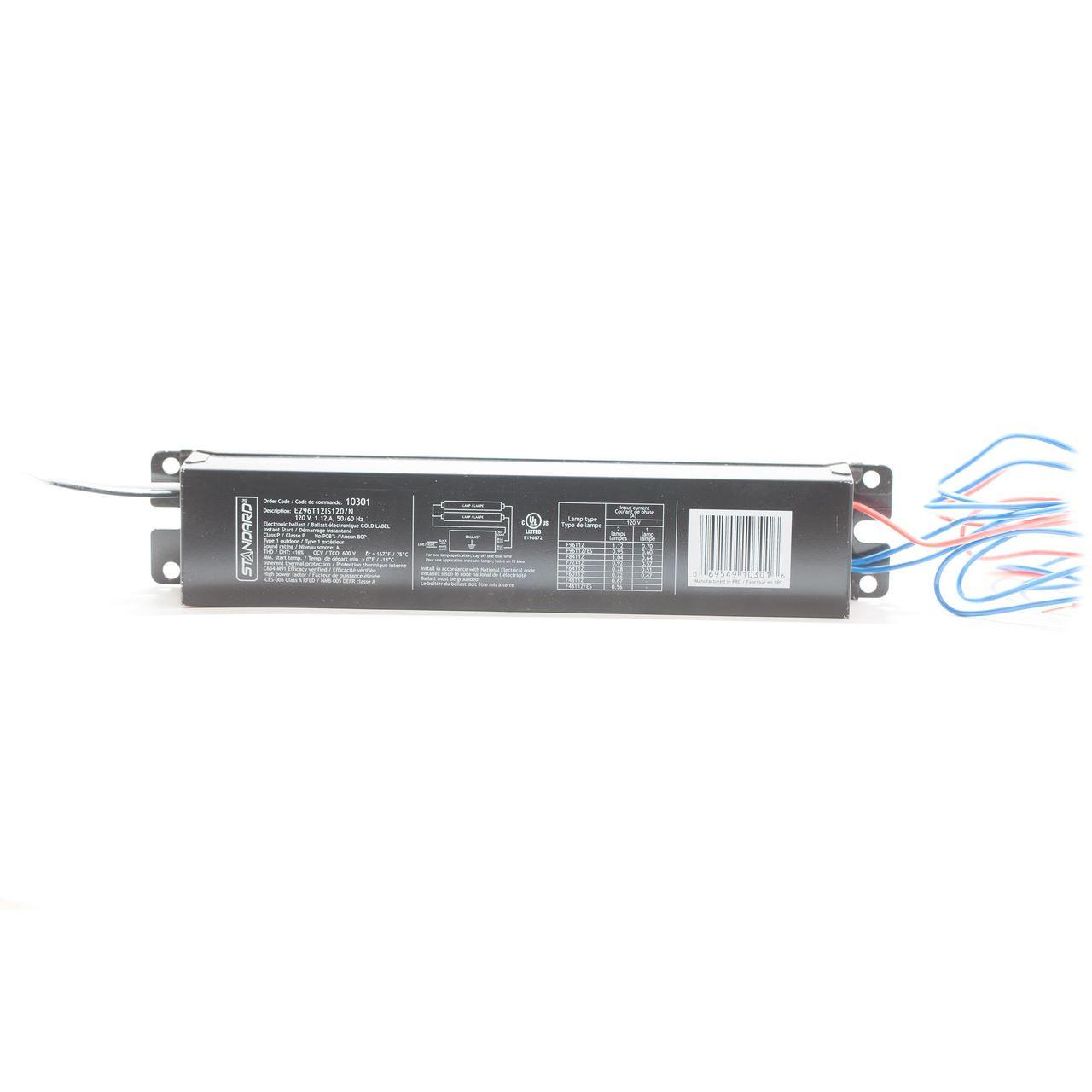 Standard 120v T12 Instant Start Electronic Ballast 1 2 Tubes T96 120 Volt Wiring Diagram
