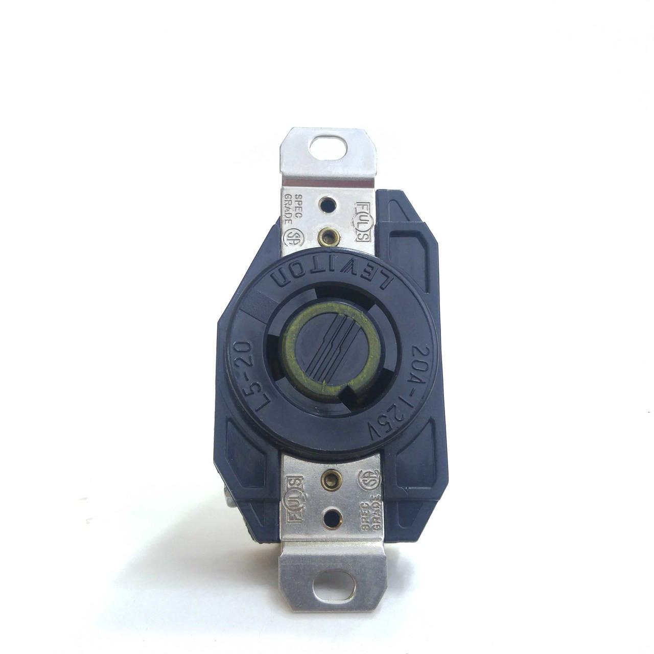 Leviton L5-20r 2p3w 20a 125v Twist Lock Receptacle