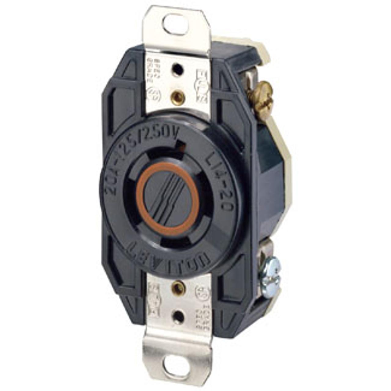 Leviton L14-20r 3p4w 3ph 20a 125  250v Twist Lock Receptacle