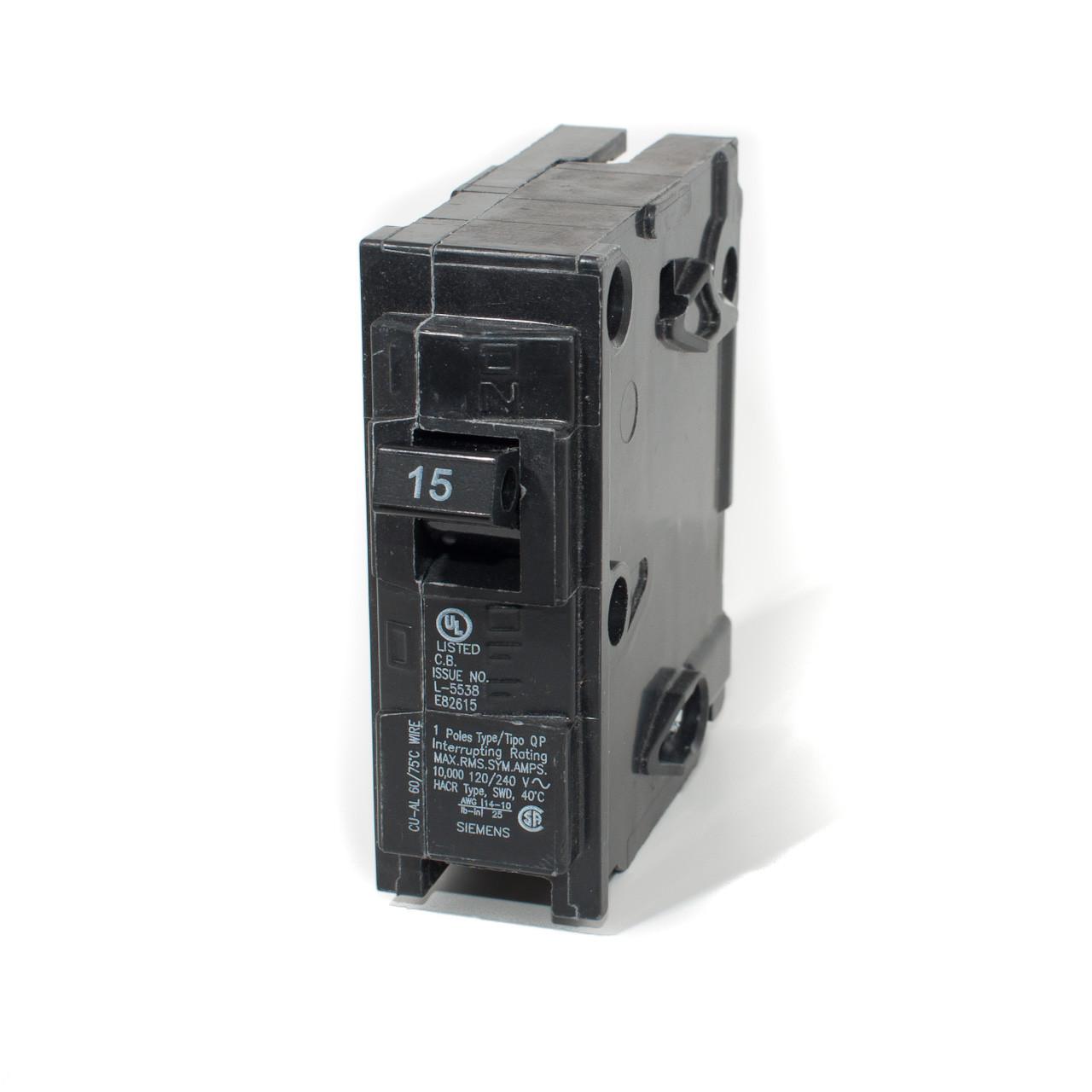 siemens q115 15a single pole push on breaker tremtech electricalSiemens Q115 Circuit Breaker #4