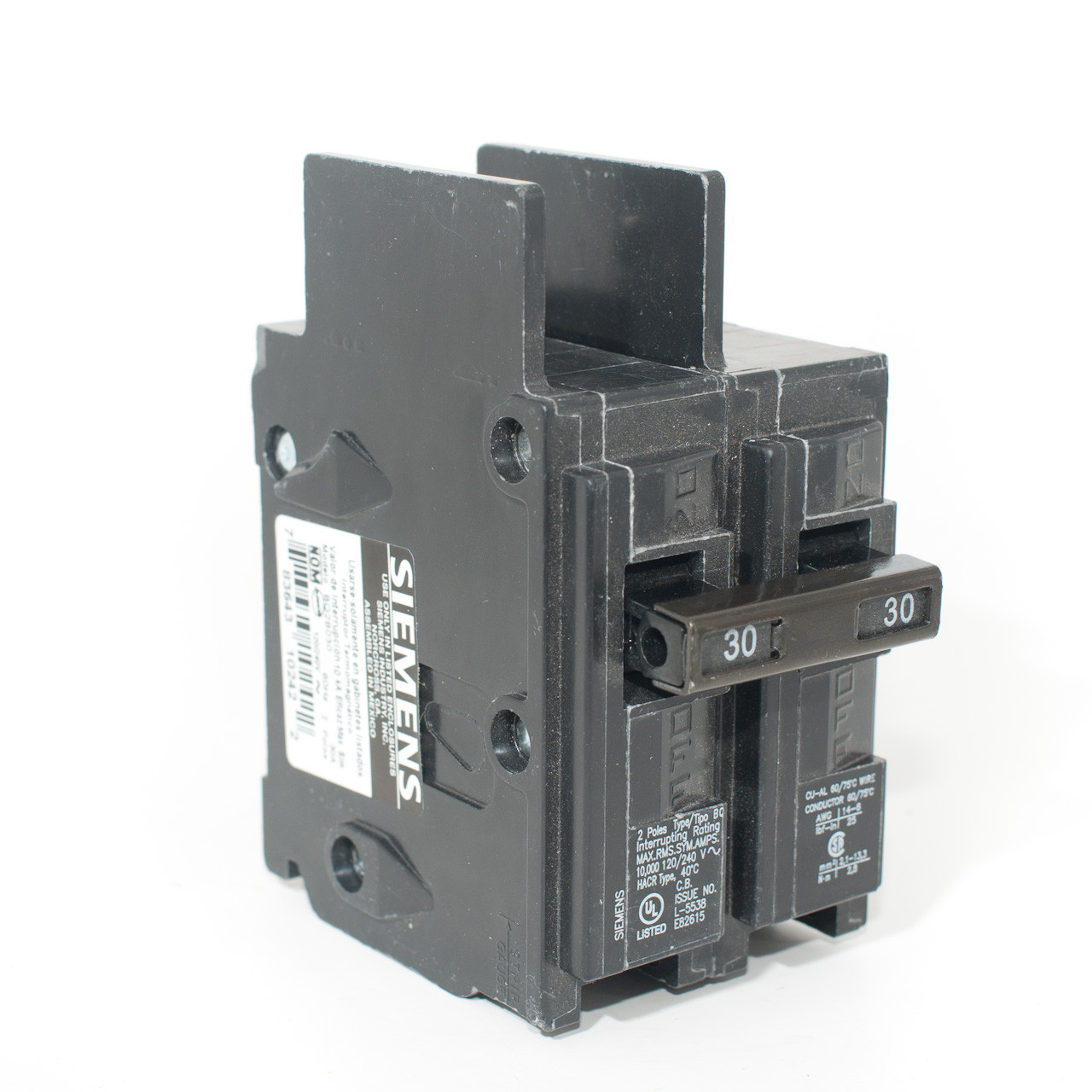 Siemens BQ2B030 Two Pole 30A 'BQ' Bolt-On Breaker