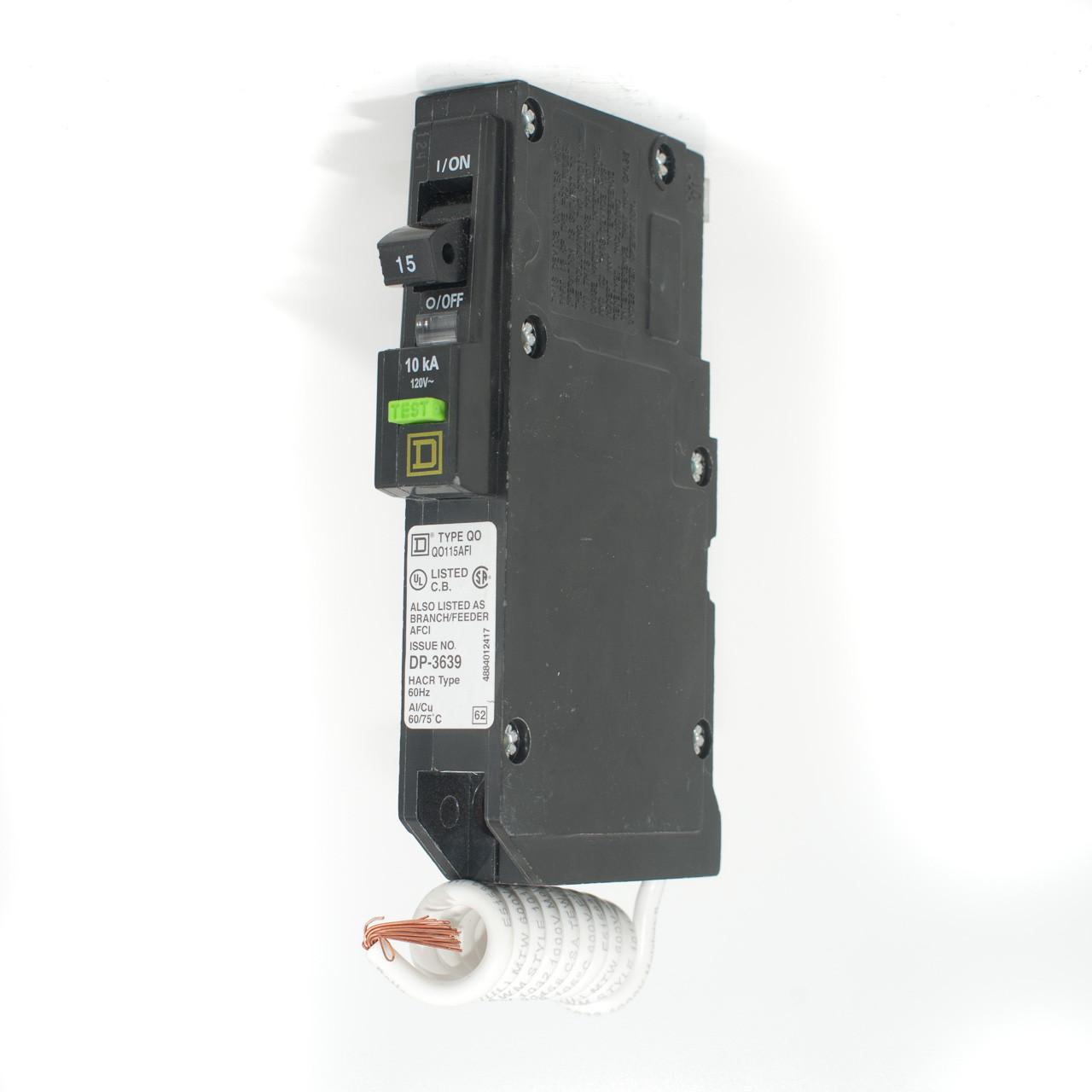 Square D 15a Single Pole Afci Push-on Breaker