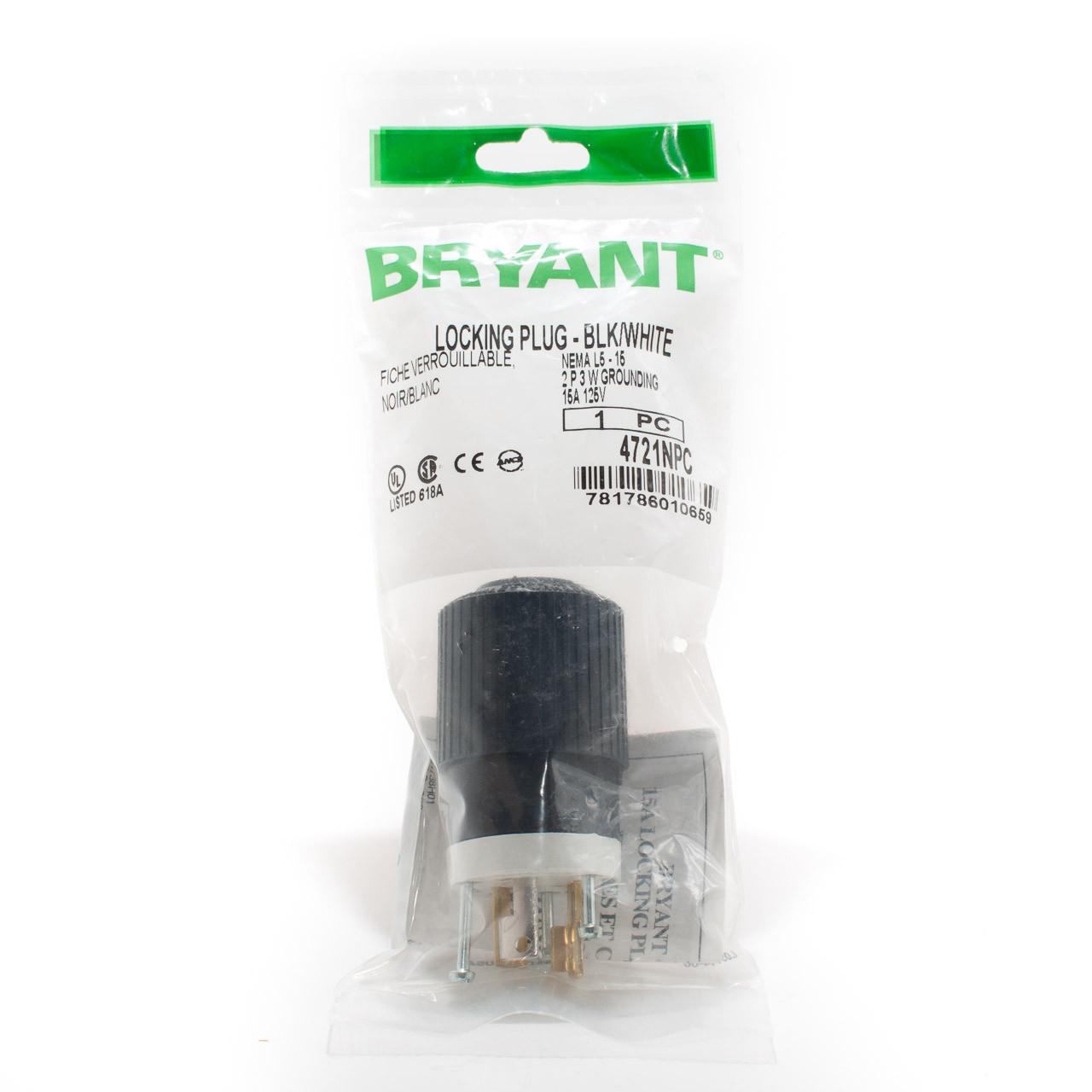 L5-15 2p3w 15a 125v Twist Lock Plug