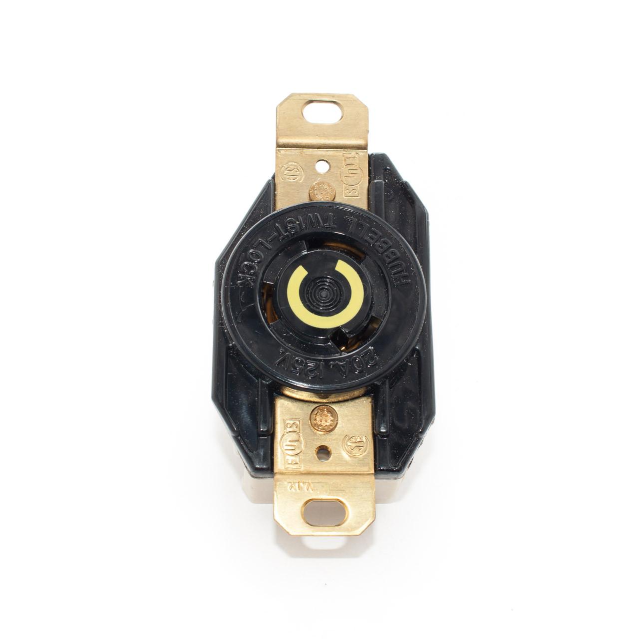 Leviton L520R Nema L5-20 20 Amp 2 Pole 3 Wire 125V Single Locking Receptacle