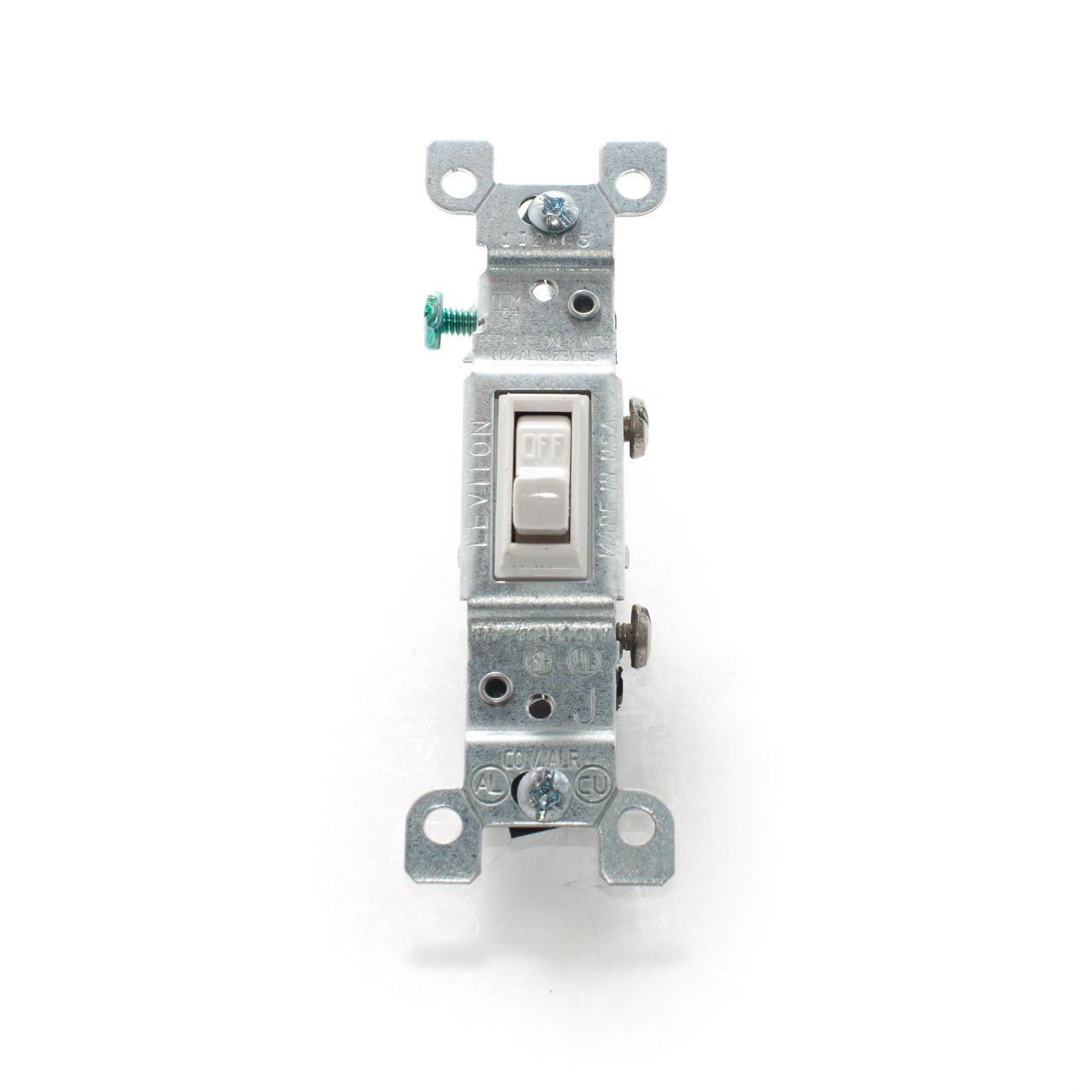 Co  Alr Toggle Switch  Single Pole 15a 125v  White
