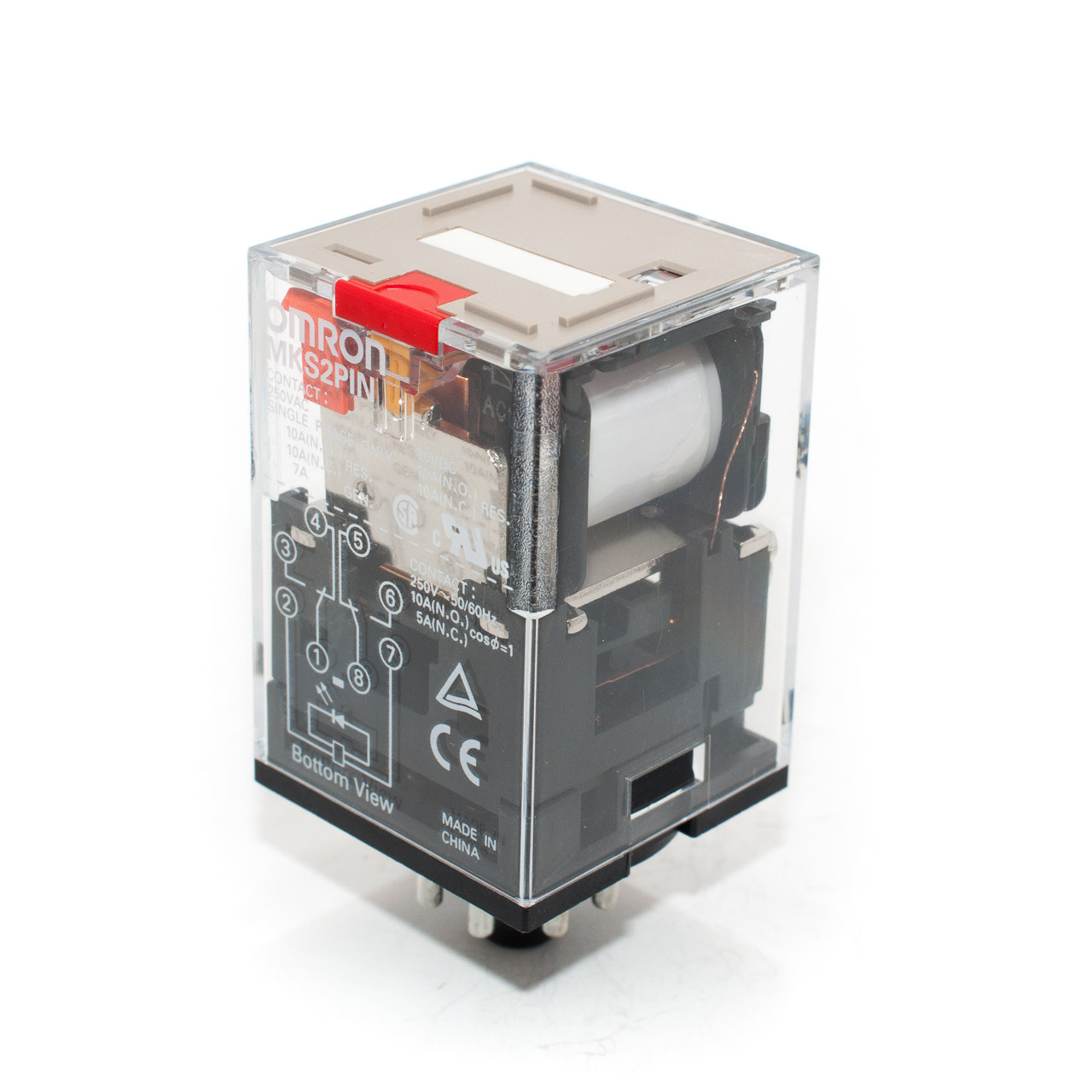 Omron Mks2p 240 Vac Relay W Lockable Test Button Tremtech Electrical Application