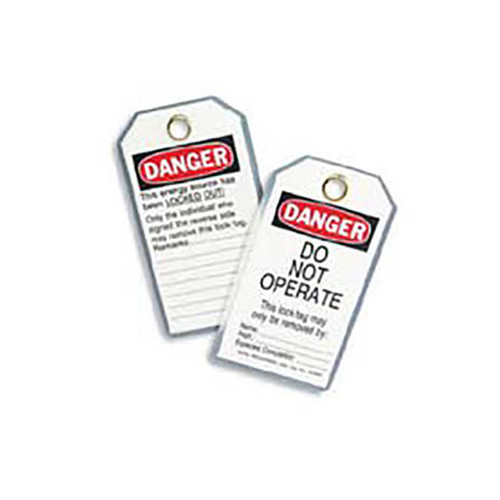 "Ideal Heavy-Duty Lockout Tags - ""DO NOT OPERATE"" (Pack of 5)"
