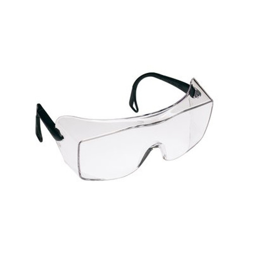 3M Clear Anti-Fog Over-Glass Safety Glasses, Black