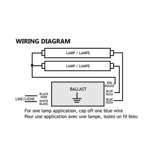 Standard 120v Pl Series Programmed Start Electronic Ballast 1 2 Lamp