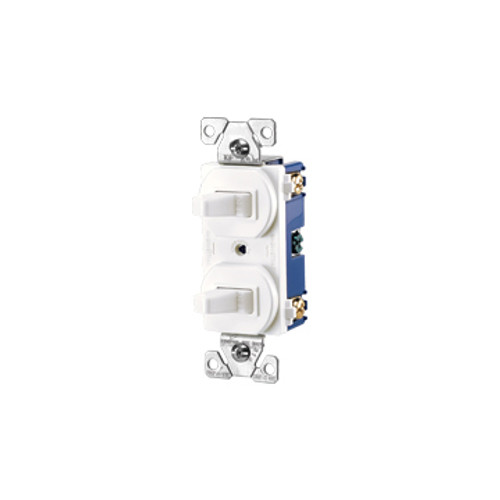 Cooper Combination Toggle Switch, White