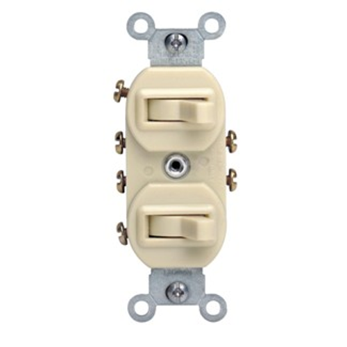 Levition 5243 Combo 3 Way Switch, Ivory