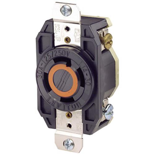 Leviton L14-30R 3P4W 3ph 30A 125/250V Twist Lock Receptacle