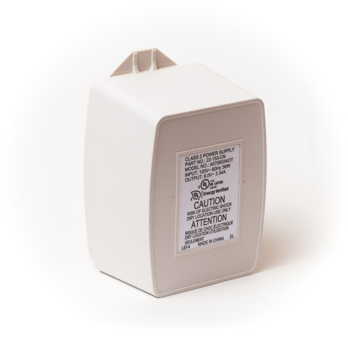 Interlogix 9V 3.34A plug-in transformer back