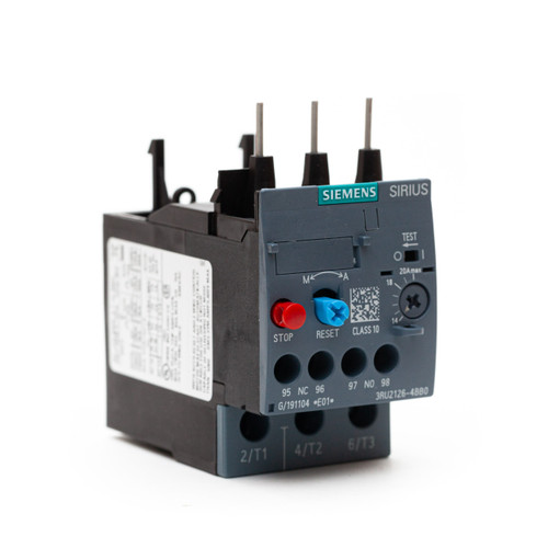 Siemens 3RU21264BB0 front angle view