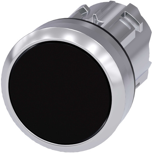 Siemens 3SU1050-0AB10-0AA0 Black Momentary Pushbutton 22mm