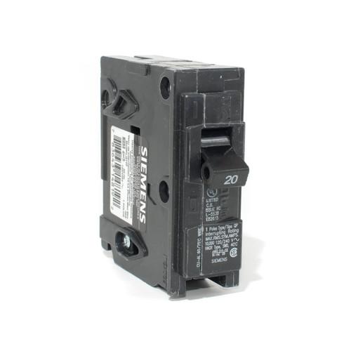 Siemens Q120 20A Single Pole Push-On Breaker