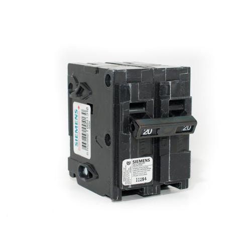 Siemens Q220 20A Two Pole Push-On Breaker